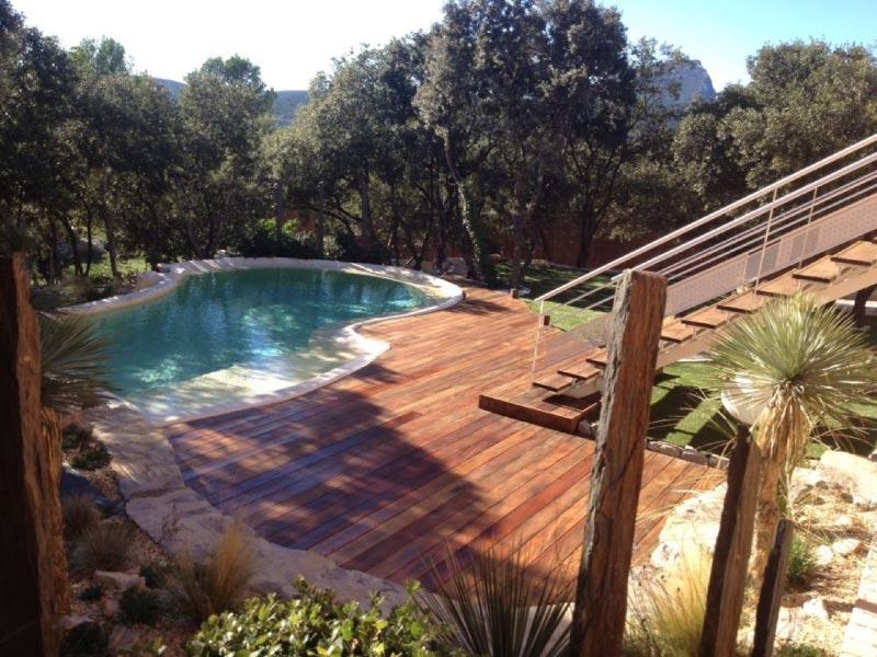 escalier et terrasse en bois